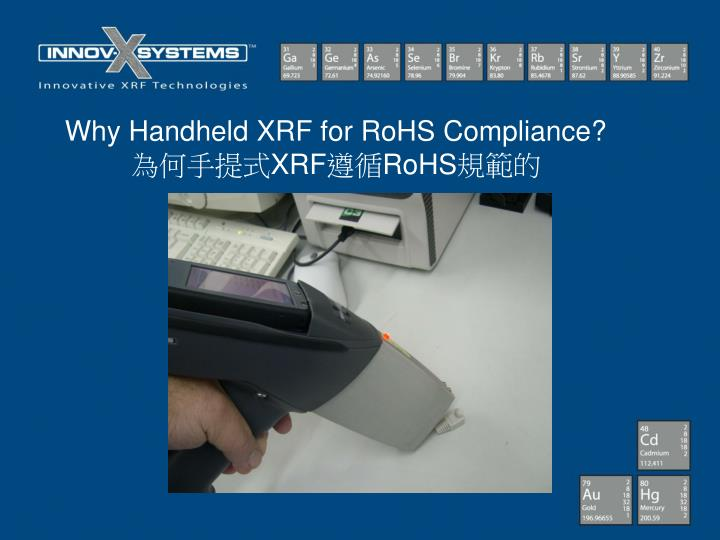 Why Handheld XRF for RoHS Compliance?