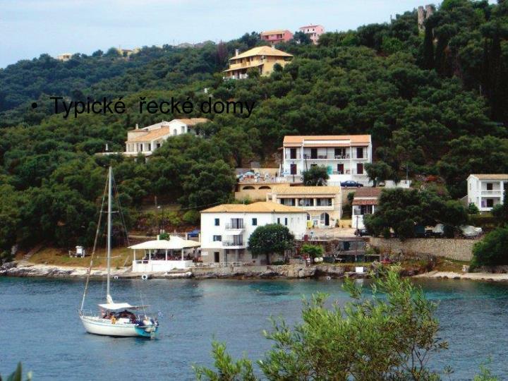Typické  řecké domy