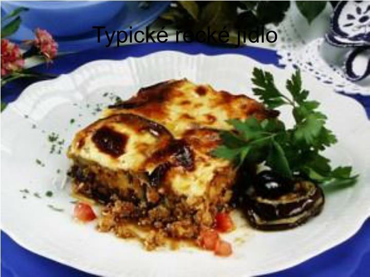 Typické řecké jídlo