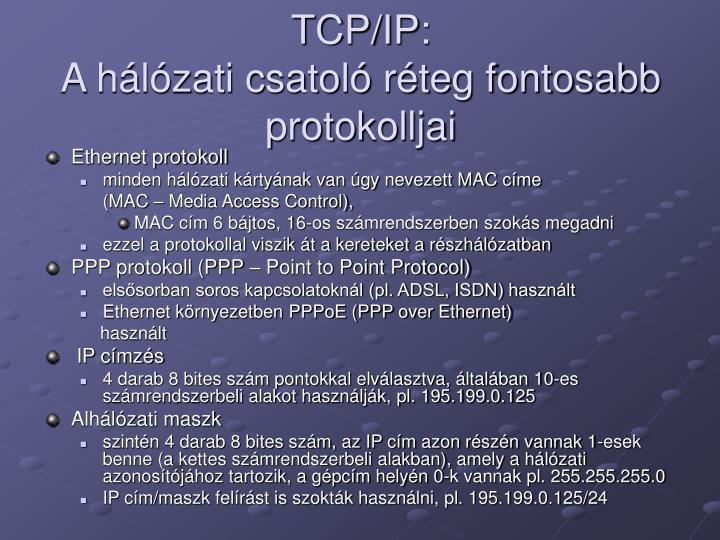 TCP/IP: