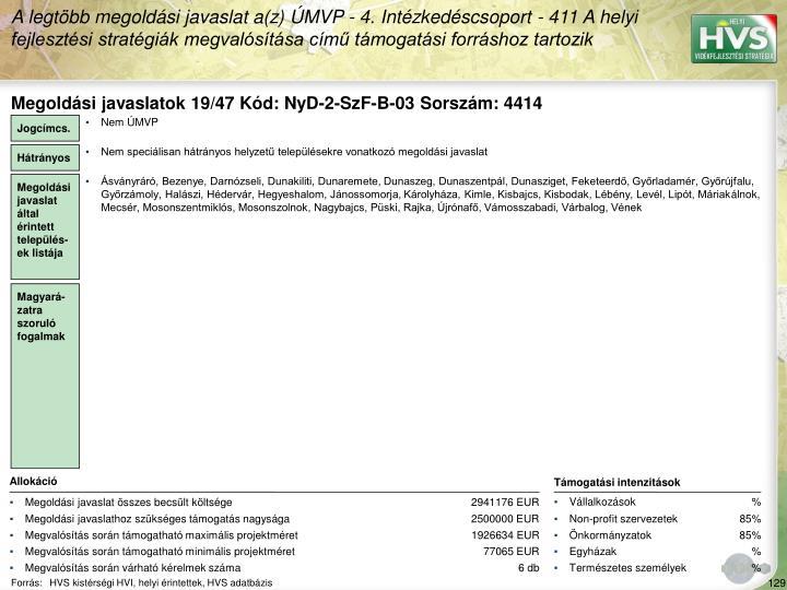Megoldsi javaslatok 19/47 Kd: NyD-2-SzF-B-03 Sorszm: 4414