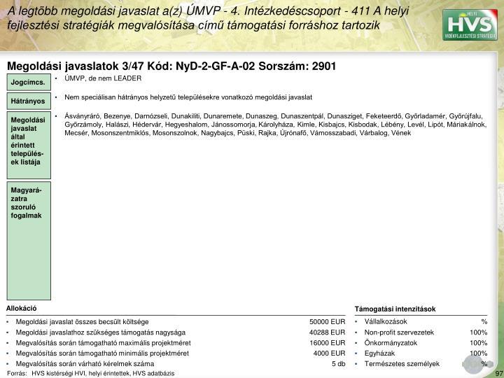 Megoldsi javaslatok 3/47 Kd: NyD-2-GF-A-02 Sorszm: 2901