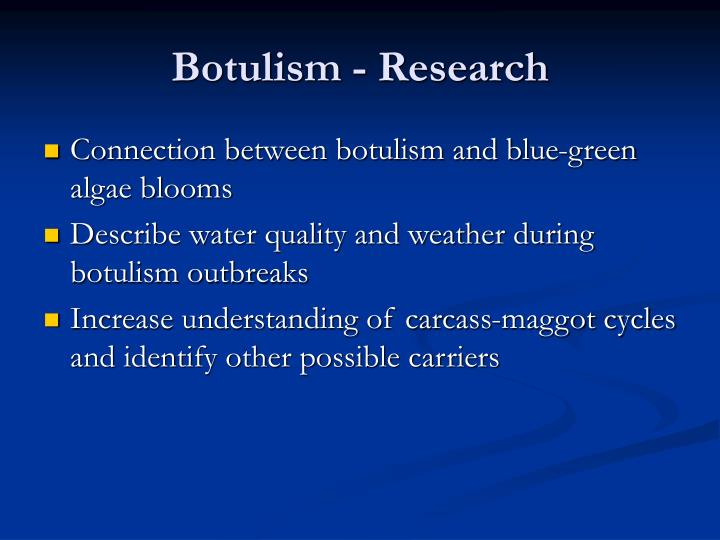 Botulism - Research