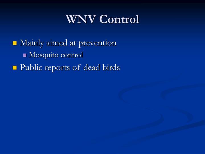WNV Control
