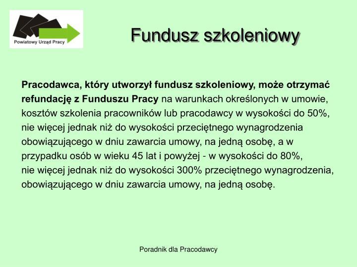 Fundusz szkoleniowy