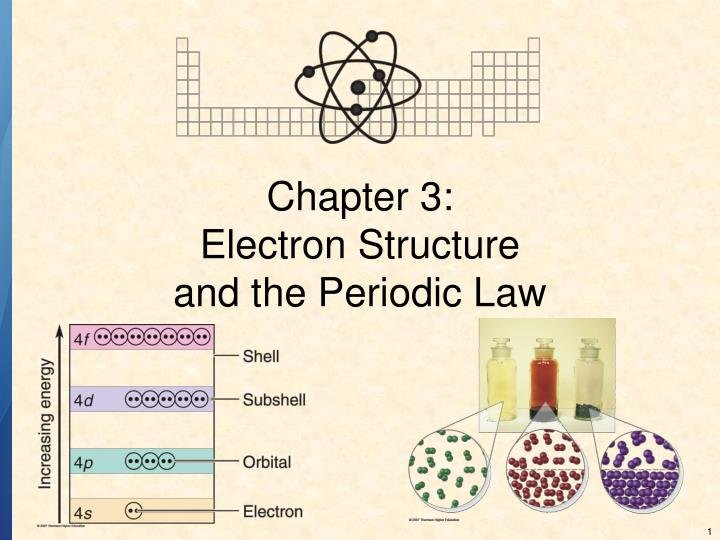 Chapter 3 electron structure and the periodic law