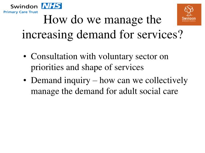How do we manage the increasing demand for services?