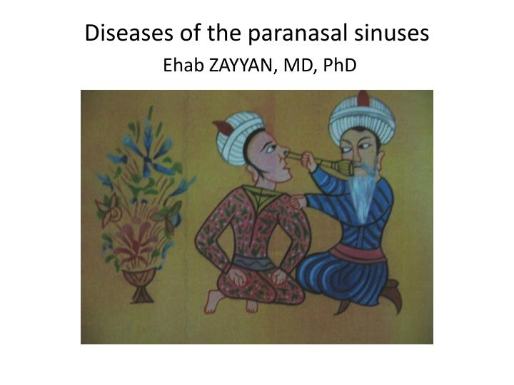 Diseases of the paranasal sinuses