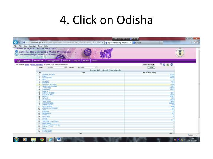 4. Click on