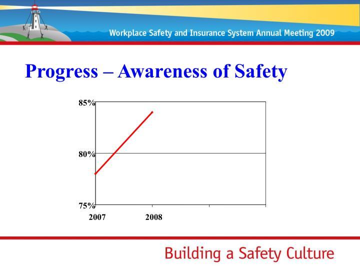 Progress – Awareness of Safety