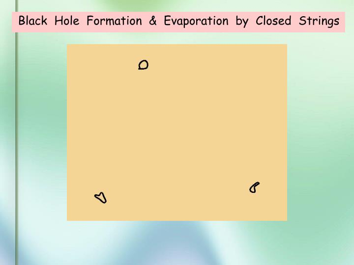 Black  Hole  Formation  &  Evaporation  by  Closed  Strings