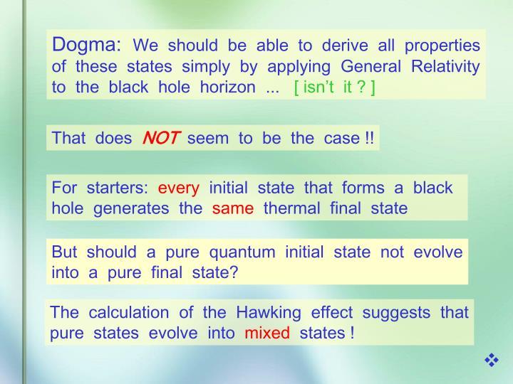Dogma:
