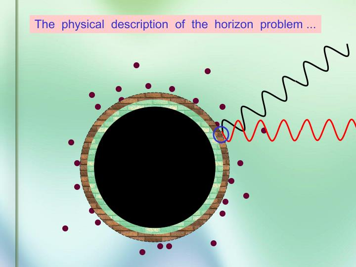 The  physical  description  of  the  horizon  problem ...