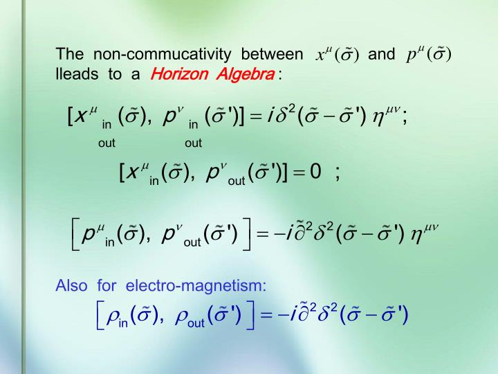 The  non-commucativity  between              and            lleads  to  a
