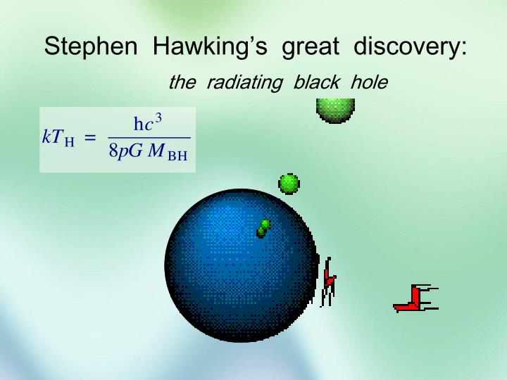 Stephen  Hawking's  great  discovery: