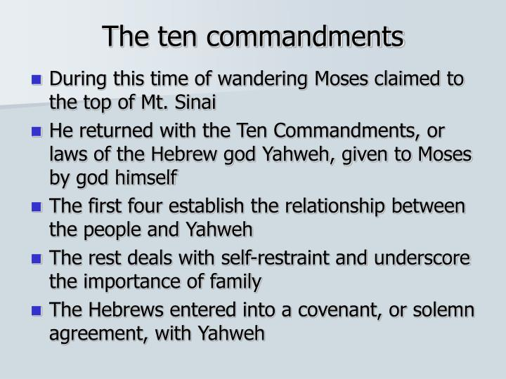 """the importance of the ten commandments in judaism Focal pointall the people answered as one, saying, """"all that the eternal has  spoken we will do"""" (exodus 19:8."""