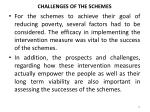 challenges of the schemes