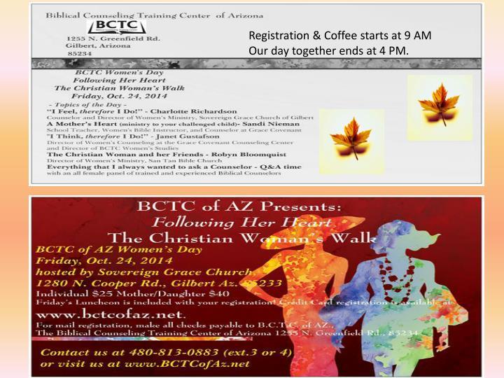 Registration & Coffee starts at 9 AM