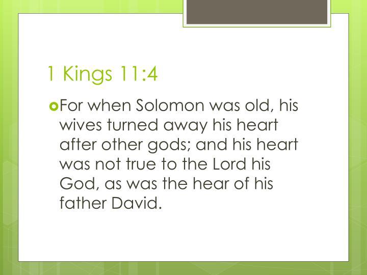 1 Kings 11:4