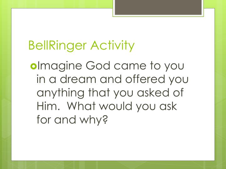 BellRinger Activity