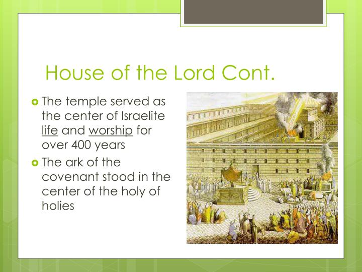 House of the Lord Cont.