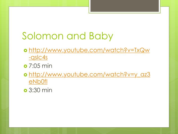Solomon and Baby