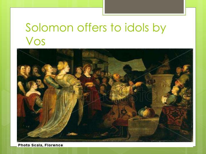 Solomon offers to idols by Vos