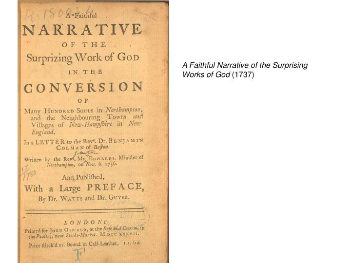 A Faithful Narrative of the Surprising Works of God