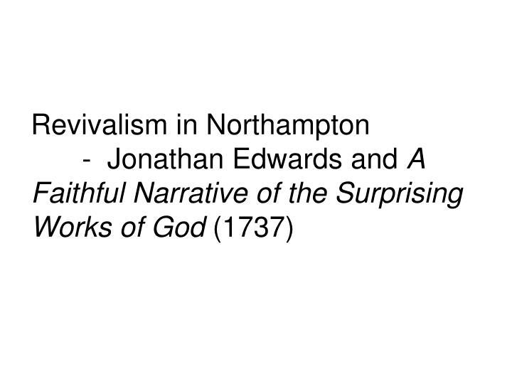 Revivalism in Northampton