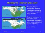 november n american snow cover