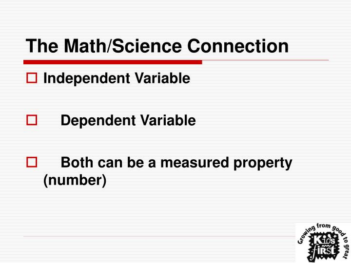 The Math/Science Connection