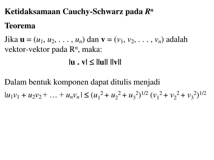 Ketidaksamaan Cauchy-Schwarz pada