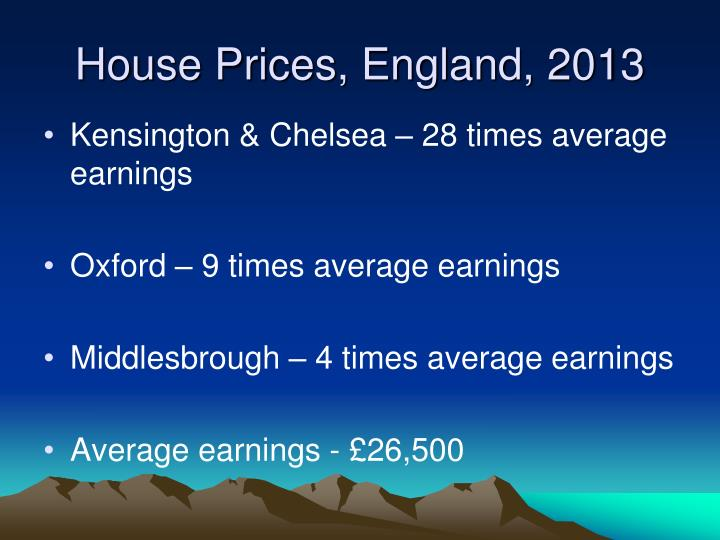 House Prices, England, 2013