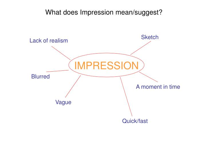 What does Impression mean/suggest?