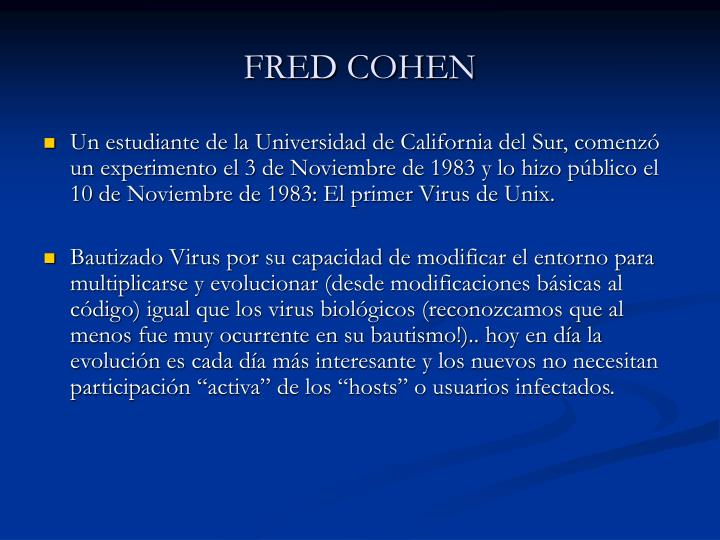 FRED COHEN
