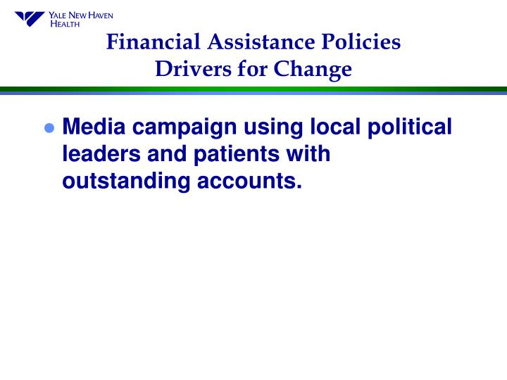Financial Assistance Policies