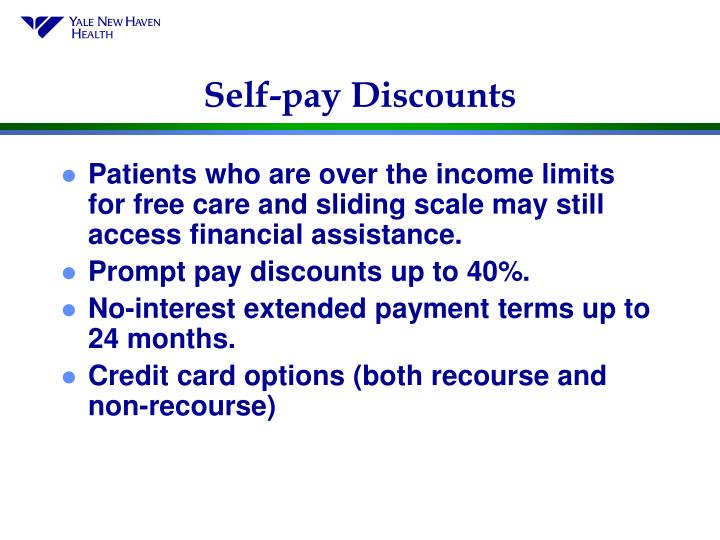 Self-pay Discounts