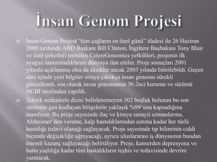 nsan Genom Projesi