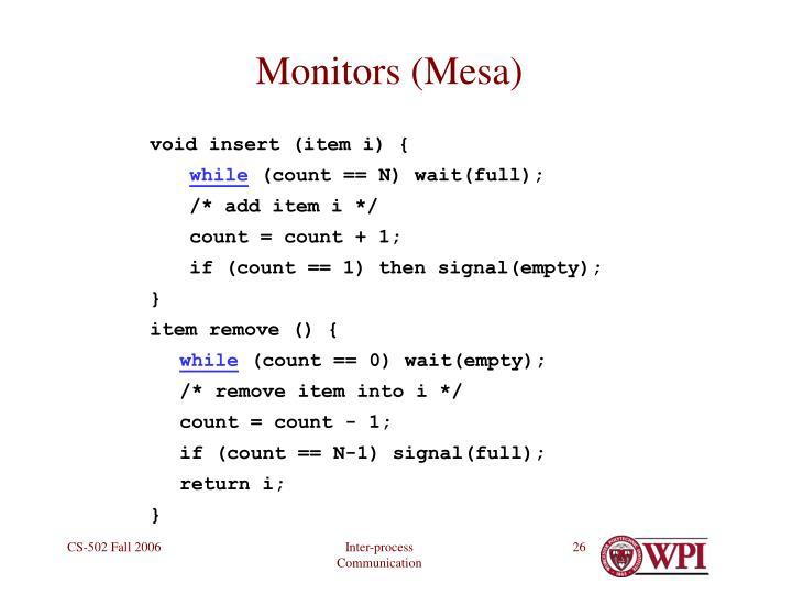 Monitors (Mesa)