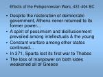 effects of the peloponnesian wars 431 404 bc