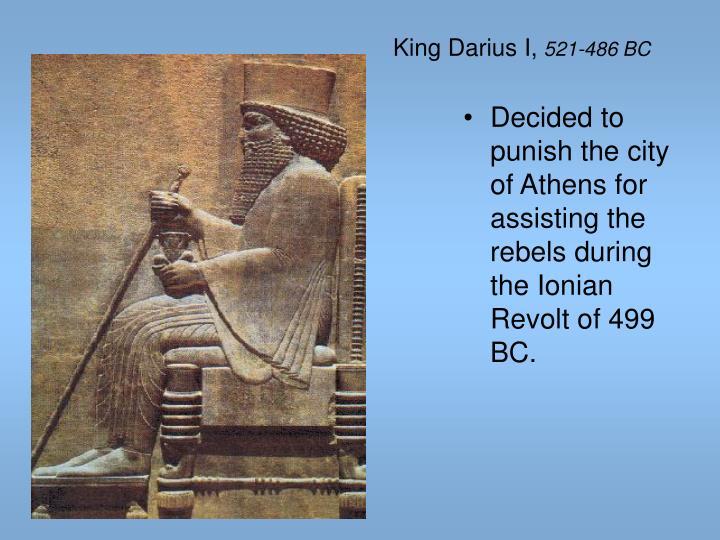 King Darius I,