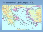 the creation of the delian league 478 bc