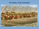 the hoplite greek footsoldiers