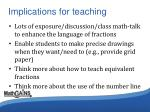 implications for teaching1