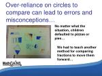 over reliance on circles to compare can lead to errors and misconceptions