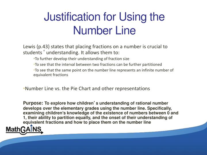 Justification for Using the Number Line