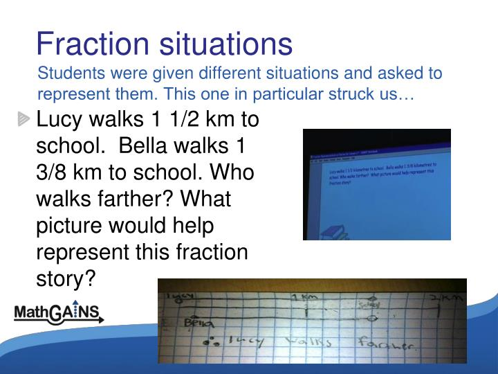 Fraction situations
