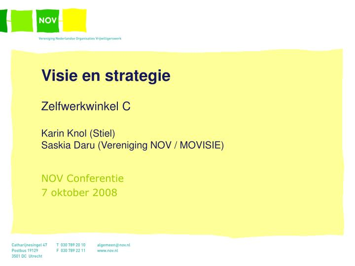 Visie en strategie