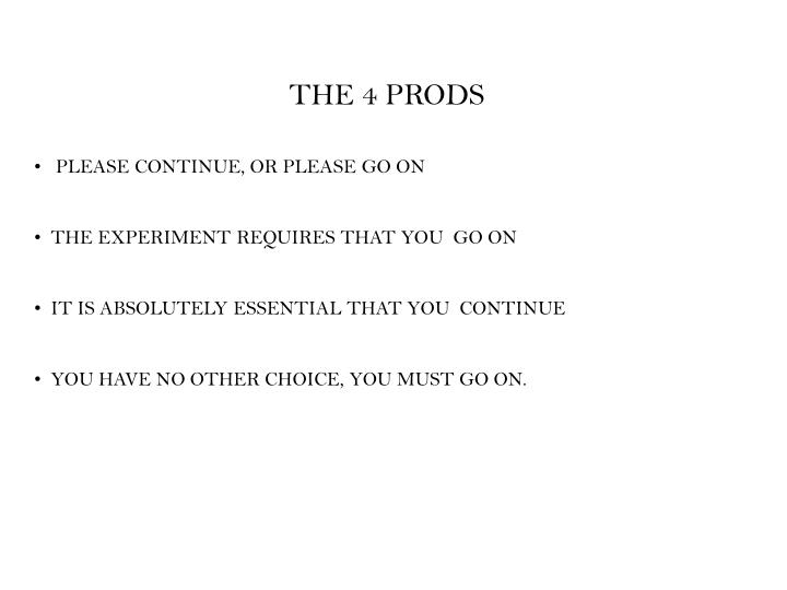THE 4 PRODS