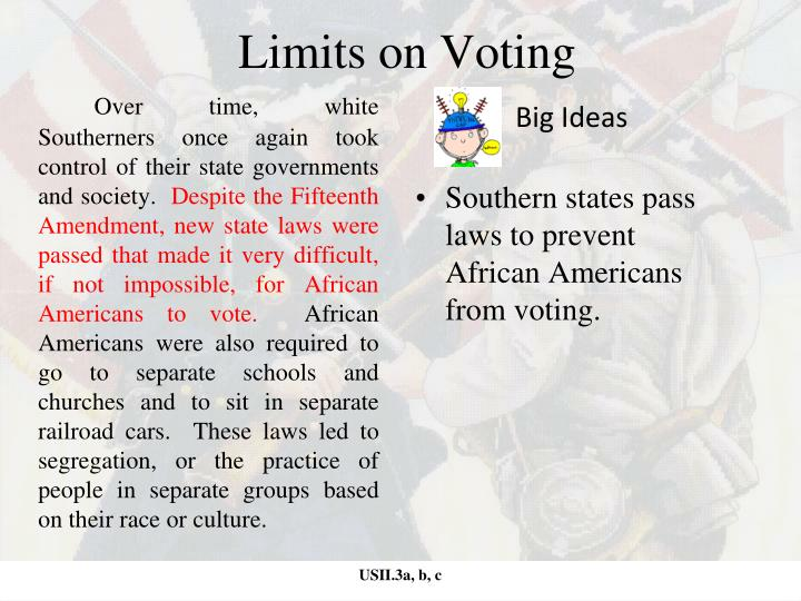 Limits on Voting